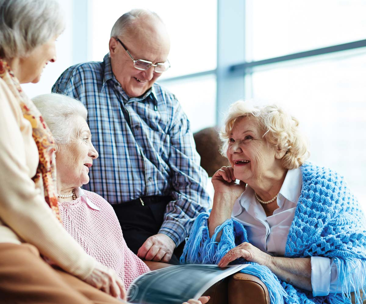 Elderly Couples chatting