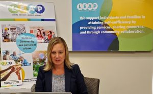 L.E.A.P. Executive Director Traci Ross speaks with LookTV via Zoom in the L.E.A.P. Conference Room in October 2020