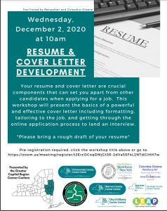 Free Virtual Workshop Resume and Cover Letter Development