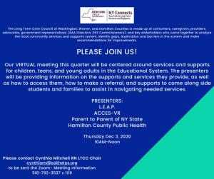 December LTCC Meeting